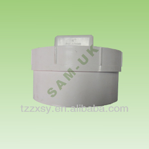 WHITE PVC PIPE PLUG FOR WASTING WATER FITTINGS