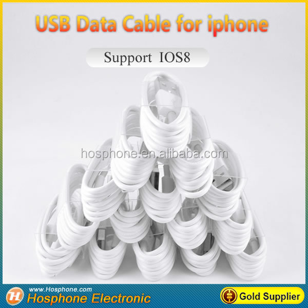 Cheapest Factory Price 1m/3FT 8 pin USB Data Cable for Apple iphone 7 6 5 compatible with iso 10