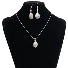 2017 Best selling trendy design silver chain fashion jewelry set for women HJ2274