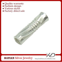 XD X011 Many Designs 925 Sterling Silver Engraved Jewelry Findings Tubes