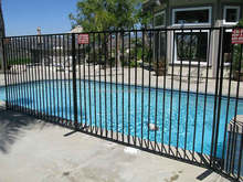 Galvanized or powder coated black iron panels / Portable swimming poolsafety fence / removable temporary pool fence panels