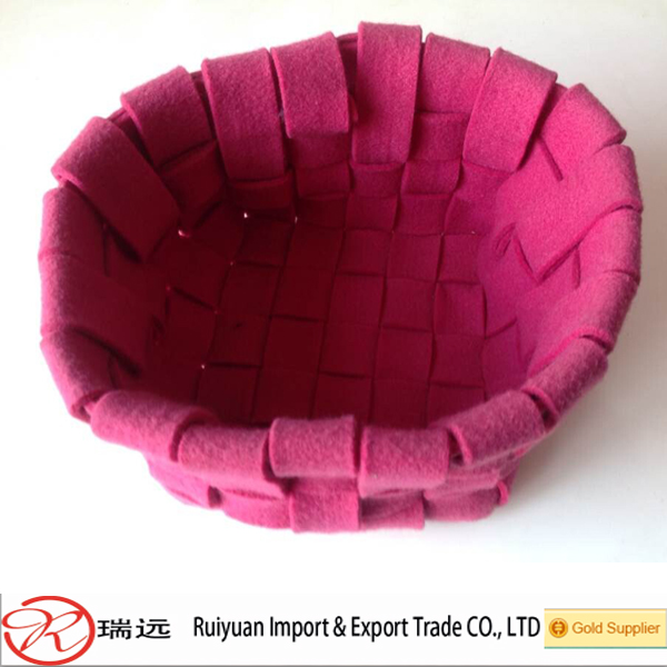 High quality lowest price durable ring felt storage basket