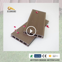 New design outdoor wpc decking waterproof composite decking reviews with CE certificate high quality and low price wpc board