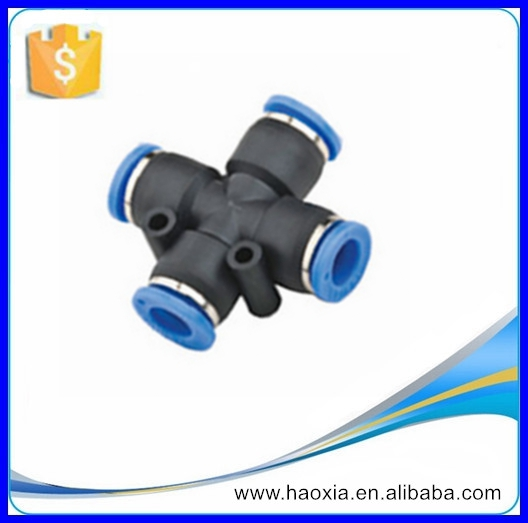 PZA Plastic Union Cross Pneumatic Pipe Fittings For Low Price