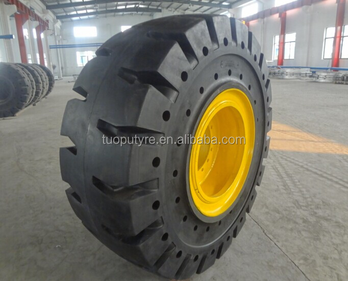 TOP SALES! Solid OTR tires for wheel loaders for VOLVO, CAT, LIEBHERR, heavy duty truck solid OTR tires.
