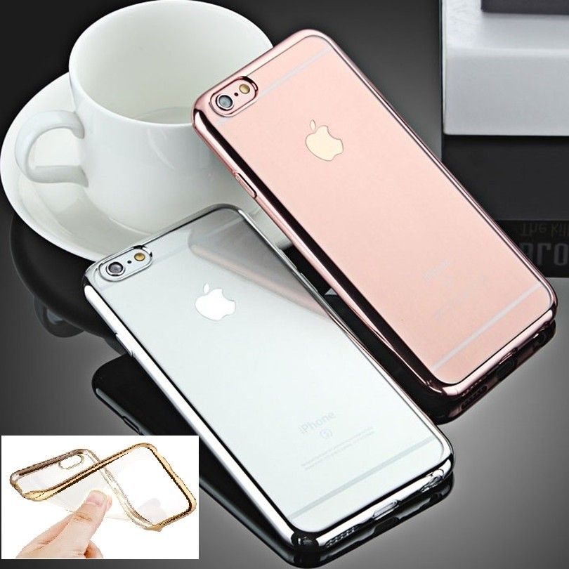 Top Selling Mobile Accessories Electroplating TPU Mirror Back Cover Case,For iPhone 6 Case , Mirror TPU Phone Case