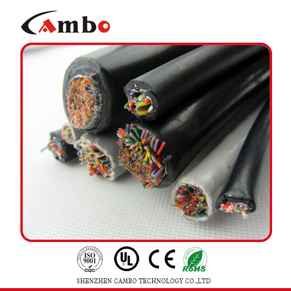 OEM Black Color Cat 5e Armoured Outdoor Cable O.F.C Copper 100% Tested
