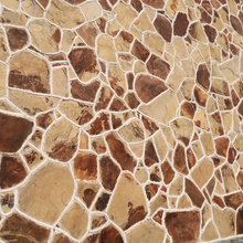Luxury decoration exterior wall stone yellow mud board random slate stone random stone