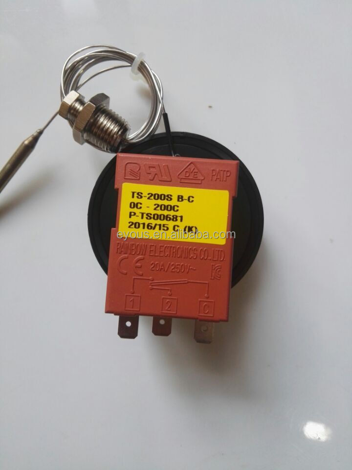 Korea Rainbow thermostat with screw TS-200SB-C 0 -200 degrees Celsius, mechanical temperature <strong>controller</strong>