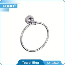FUAO Skillful manufacture round oil rubbed bronze towel ring