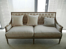 Classical models high back sofa button tufted fabric sofa white wedding sofa