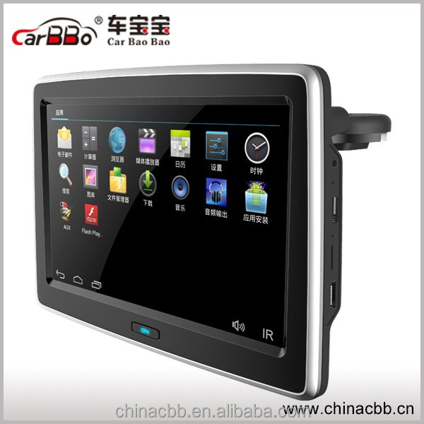 1080p HD 10.1 inch car headrest monitor Android 4.4.4.O.S.