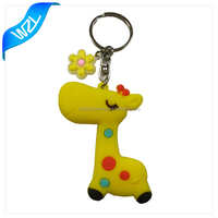 Custom soft cartoon pvc rubber keyring