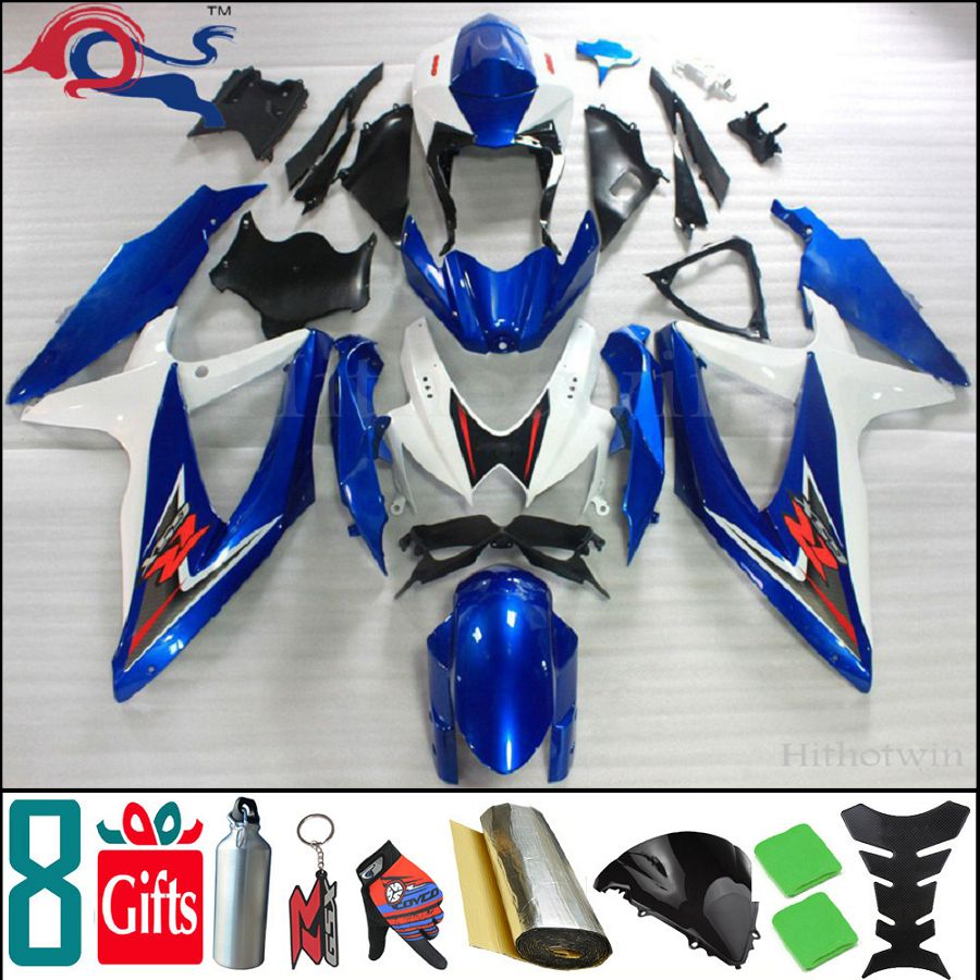 manufacturer drop-shipping 8Gifts+Injection mold ABS Fairing for Suzuki GSXR600 2008 2009 2010 GSXR750 08 10 09 K8