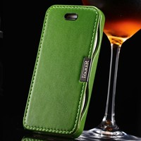 Genuine Leather Hot Selling Wallet Case For iPhone 5