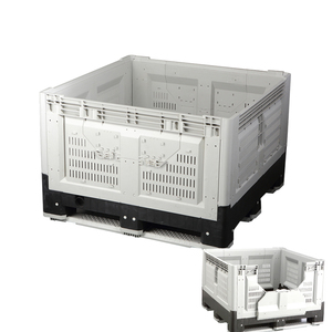 SGS Plastic Collapsible Bulk Containers Heavy Duty Pallet Box Mega Bins