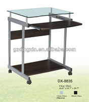 black glass office desk (DX-8835)
