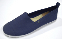 flat shoes many sizes women solid navy color shoes