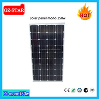 HOT SALE!150W Mono Solar Panels Factory Direct Export to Russia,Nigeria,Afghanistan,Philippines etc