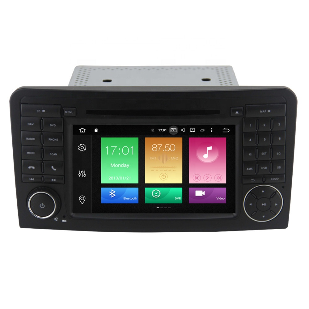 7 inch 2din Android 10.0 car <strong>dvd</strong> player for Benz ML350 <strong>W164</strong> 2005-2013 Octa core GPS Navigation Car radio multimedia stereo WiFi