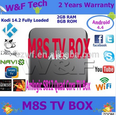 2016 Original Amlogic M8S S812 <strong>satellite</strong> tv kodi 16.0 android 4.4 m8s