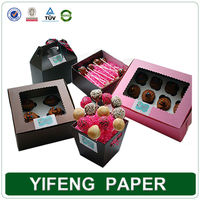 China supplier decorative paper Christmas present boxes Christmas cookie box