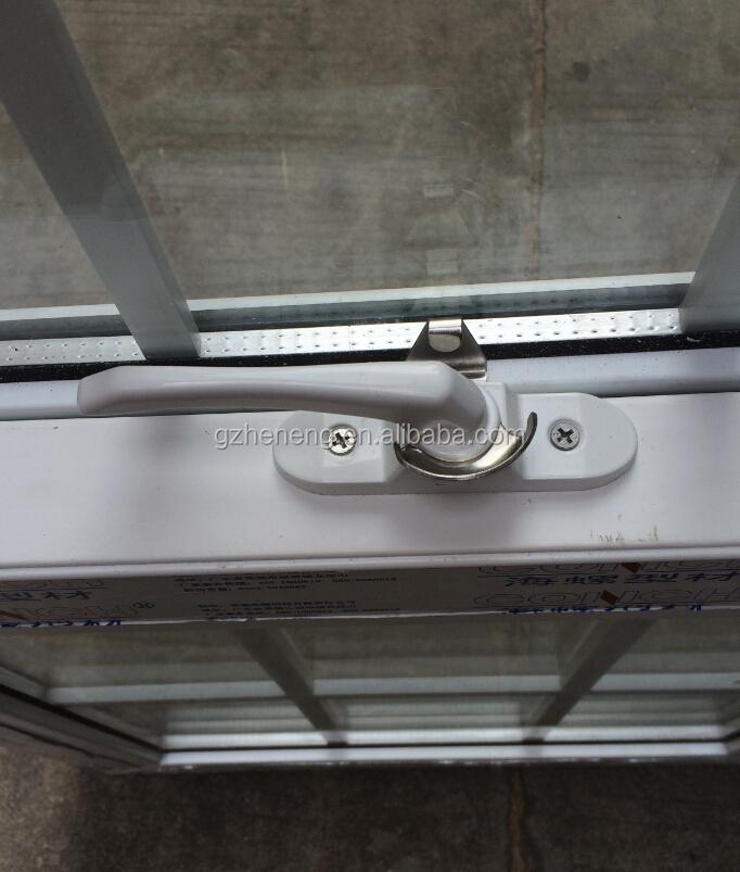 Upvc single hung windows with grill design window pvc for Vertical sliding window design