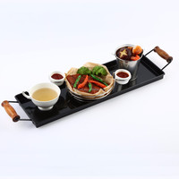 Table Top Food Serving Tray With Handle