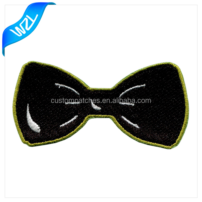 High quality Bow-knot patch/ Embroidery Bow patch for dress