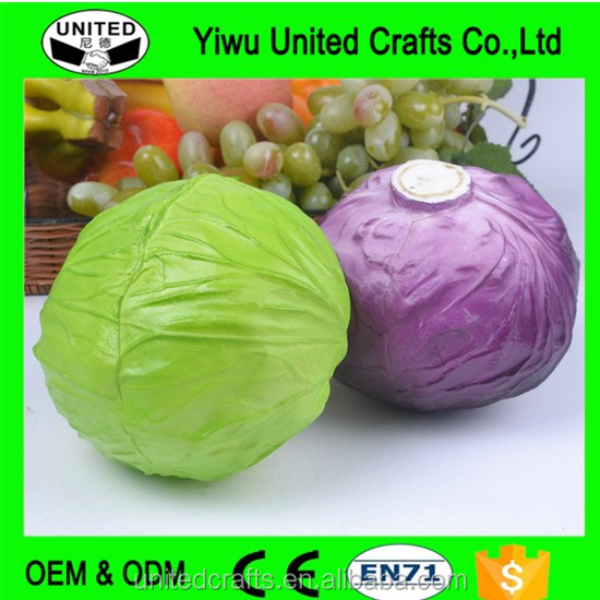 Faux savoy round cabbage artificial vegetable fake food house kitchen decor