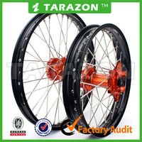 Tarazon made CNC aluminum spoke wheels for pit bikes from China