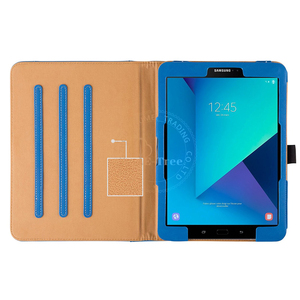 E-Tree Original Synthetic Auto Wake Up Folding Standing Flip Cover Leather Case For Samsung Galaxy Tab S3 9.7 inch 2017 Tablet