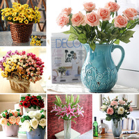 Home& wedding decoration silk rose flowers artificial flower