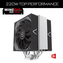 ALSEYE Wind Plus CPU Cooler with 120mm PWM Fan TDP 220W Heatsink fan radiator for LGA 2011/1366/775/115X/AM2+/AM3+