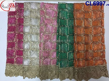 chowleedee new arrival fashionable elegant beads tulle embroidry lace/net french lace/lace fabric with multicolor embroiderylace