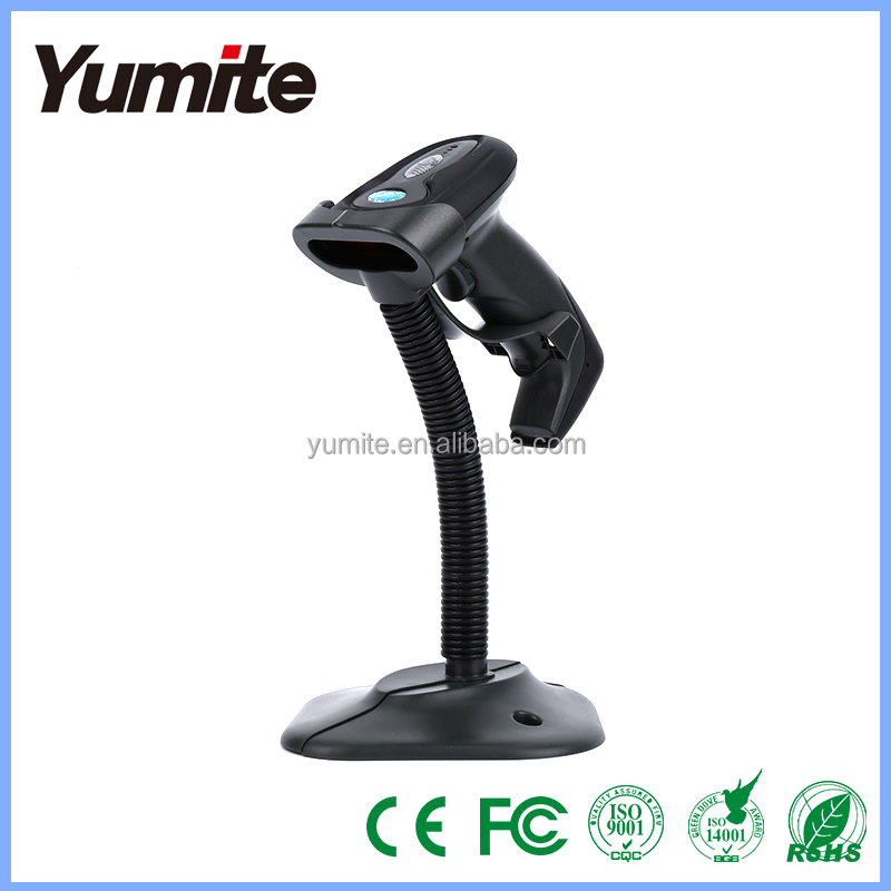 Automatic wired laser barcode scanner with sthand in POS system for supermarket USB scanner made in china