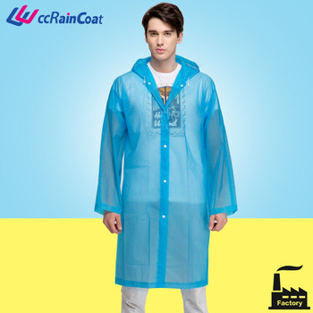 long eco friendly plastic raincoats for men