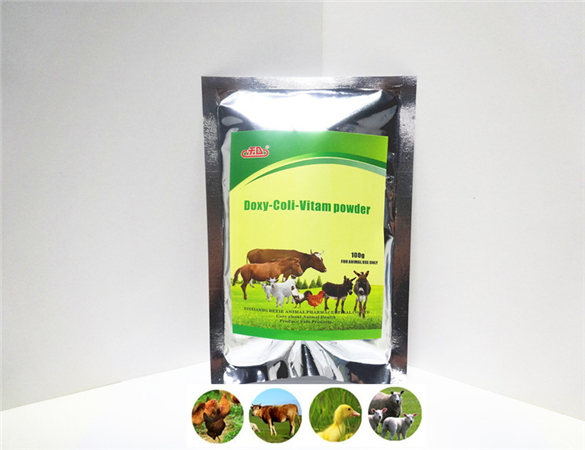Horse vitamins high quality veterinary gmp nutritious antibacterial hexie Doxycycline HCL and Colistin sulphate vitamin powder