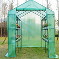 large walk in garden greenhouse with shelves polytunnel steeple grow house