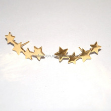 Latest New Design Girls Gold Plated Four Mini Star Earring