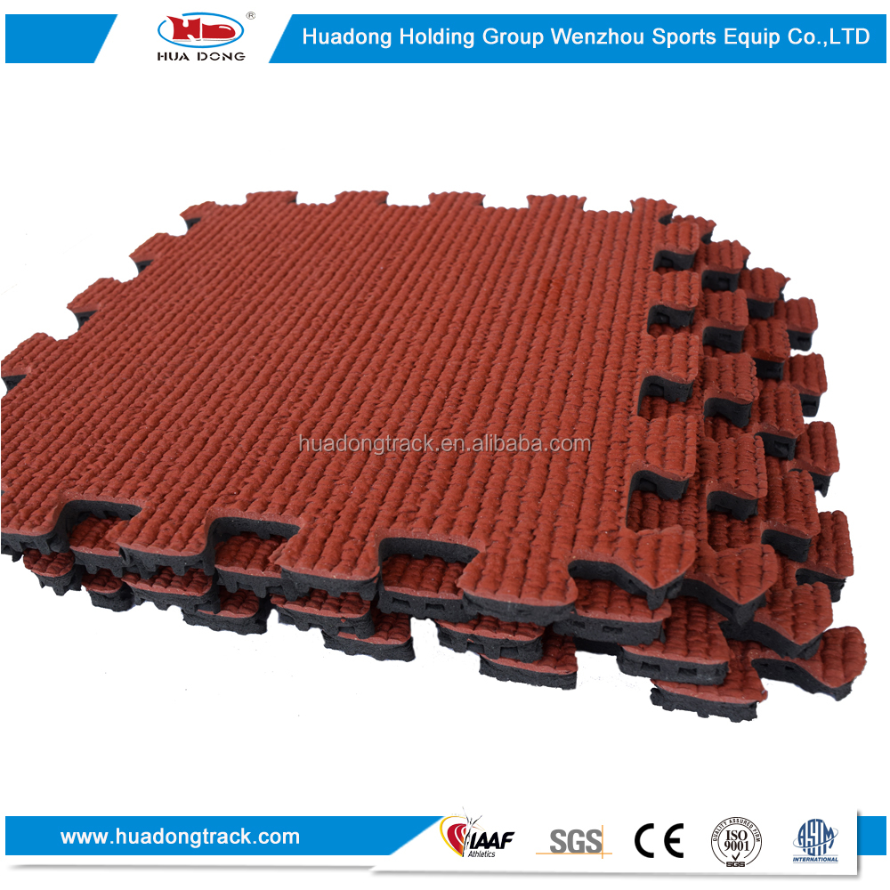 Outdoor Playground All Weather Basketball EPDM Rubber Flooring tile