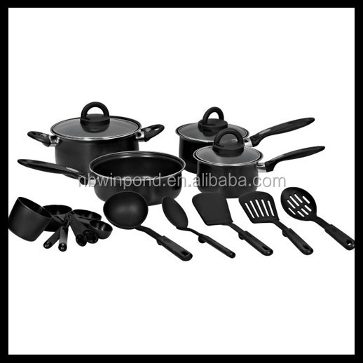 20pcs carbon steel non-stick coating technique cookware