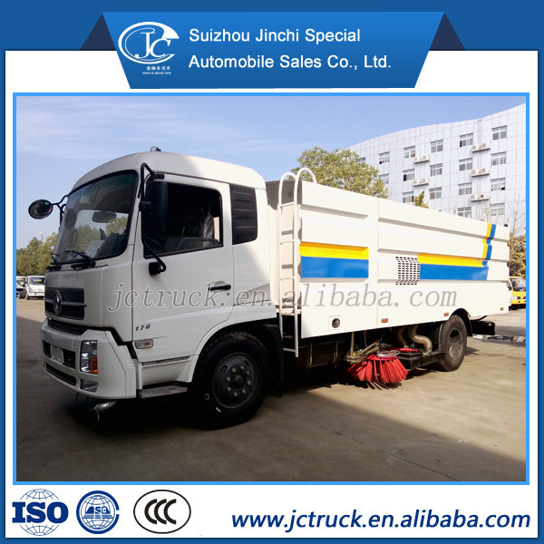Dongfeng mutifunctional 8CBM vacuum sweeper truck for sale