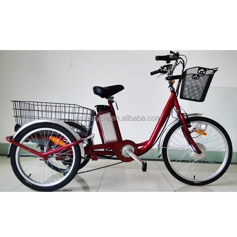 high quality lithium battery operated three wheel electric tricycle