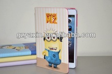Despicable me 2 minions leather case cover,Fashion Pu Leather Case For Ipad Mini Despicable Me Leather Case