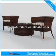 rattan outdoor furniture stackable coffee table set