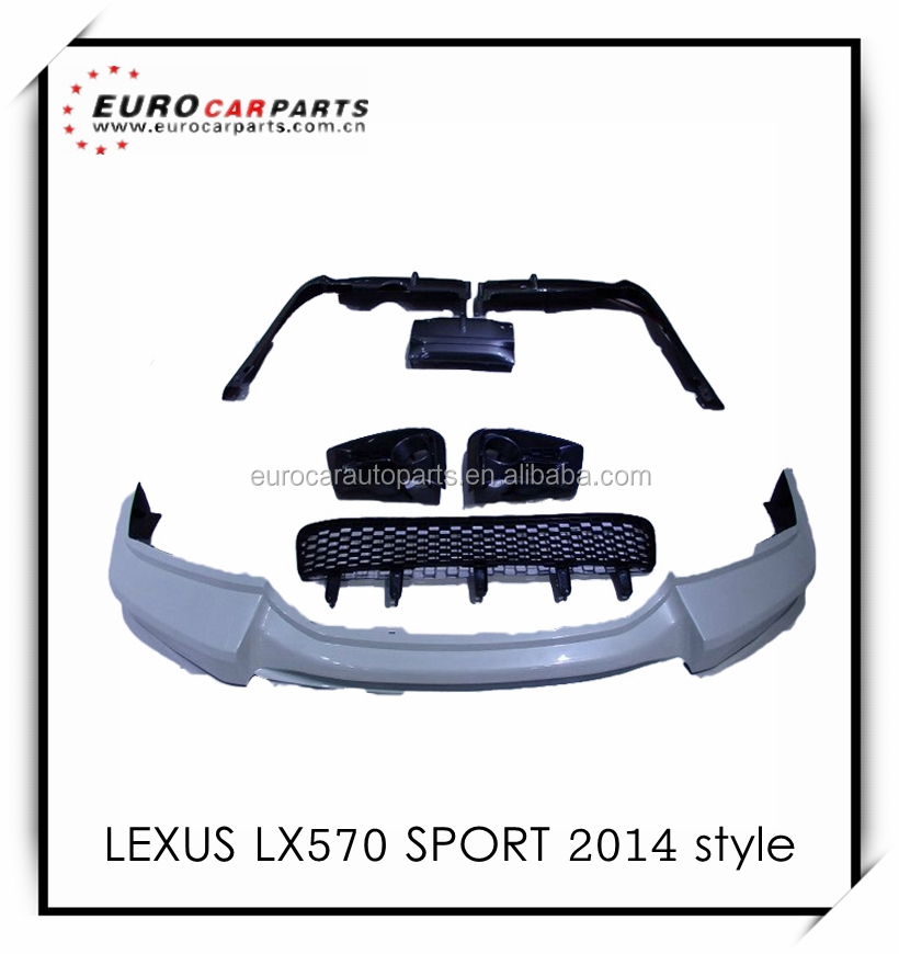 Newest lx570 body kits fit for suv lexus 570 sport style 2014 model pp material full set
