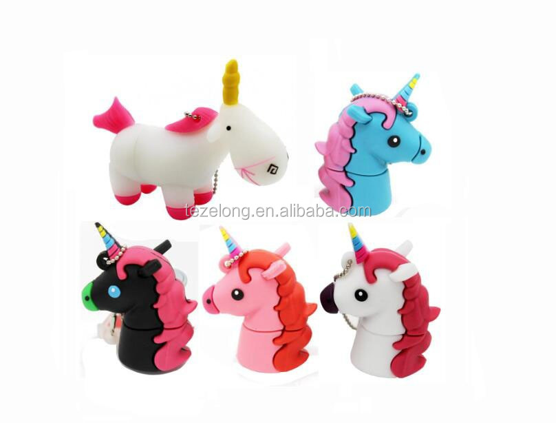 Popular emoji silicone usb flash drive unicorn pen drive