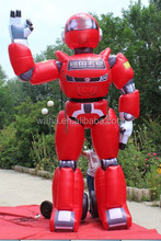2015 Hot-selling cheap custom 1.8m red inflatable robot toy