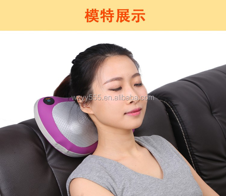 with heating for car and home use Electric shiatsu neck massage pillow